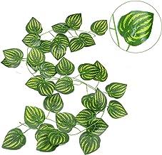230 cm Levendige kunstmatige planten creeper druif groen blad klimop wijngarland voor thuis tuin partij bruiloft muur deco...