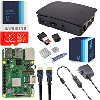 V-Kits Raspberry Pi 3 Model B+ (Plus) Complete Starter Kit with Official Black Case [2018 Model]