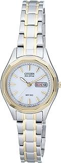Citizen EW3144-51AE Orologio da polso, cinturino in rivestito in acciaio inox multicolore, Donna