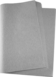 Miahart Weihnachtliches Seidenpapier, 60 Blatt, 50 x 35 cm für DIY und Basteln, Geschenktüten, Dekorationen, Geschenkpapier grau