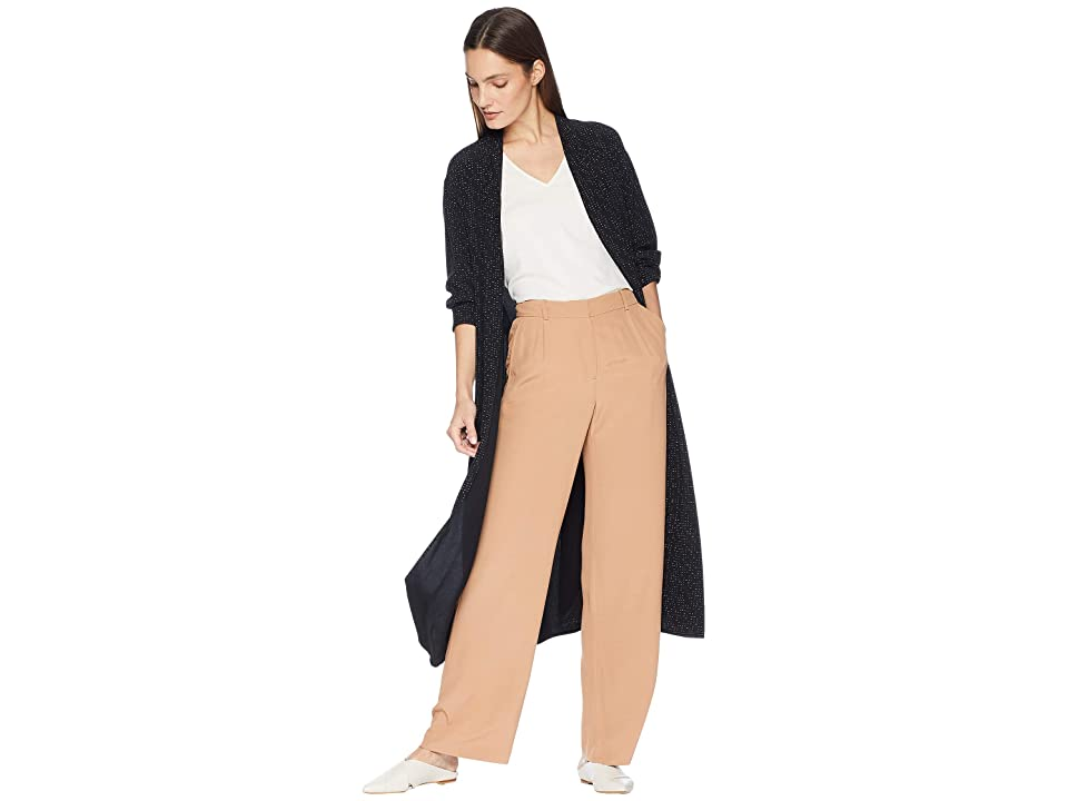 Eileen Fisher Morse Code Kimono Long Jacket with Belt (Black) Women