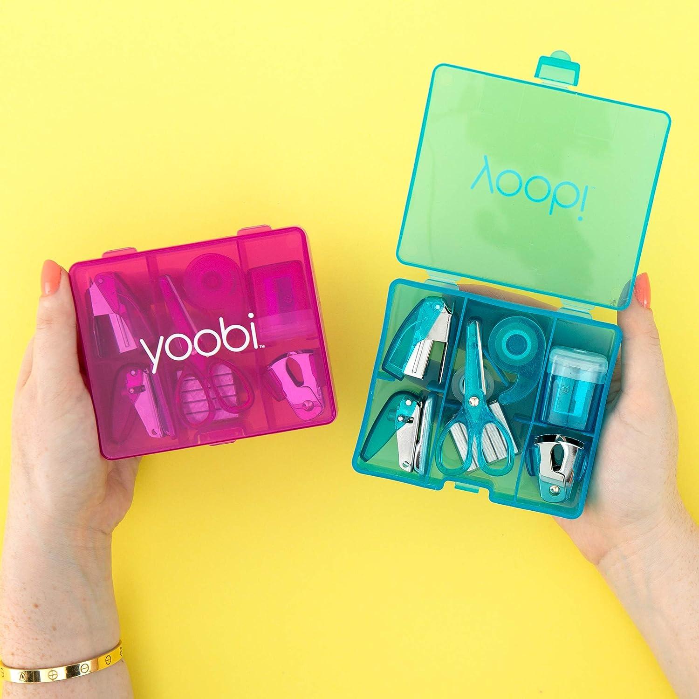 Yoobi Pack of 2 School /& Office Mini Supply Kit for Kids Blue