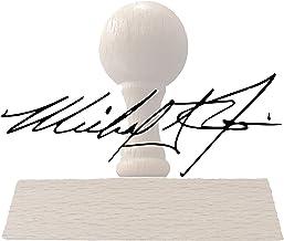 Custom Signature Stamp - Name Signature or Hand Writting Stamp - Small Medium Large Upload Your Custom Image - Self Inking...