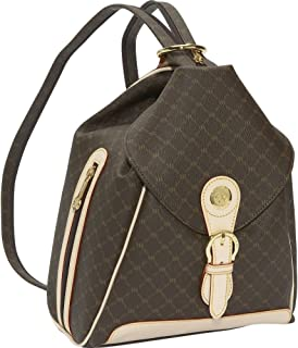 Signature ST-20082 Brown Zipper Strap Backpack Bag