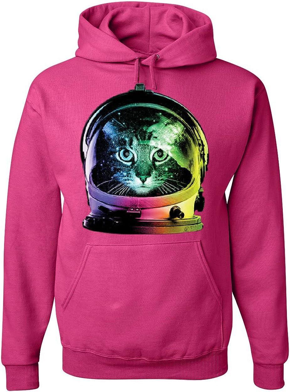 Tee Hunt Store Space Cat Max 78% OFF Hoodie Neon Sweatshir Astronaut Galaxy Kitten