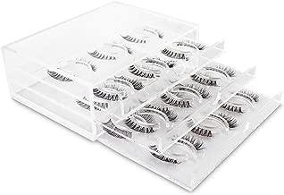 Golden Empire New Clear Acrylic False Eyelash Organizer 18 Pairs Set of 3 Layers (1 Box) Durable Makeup Box