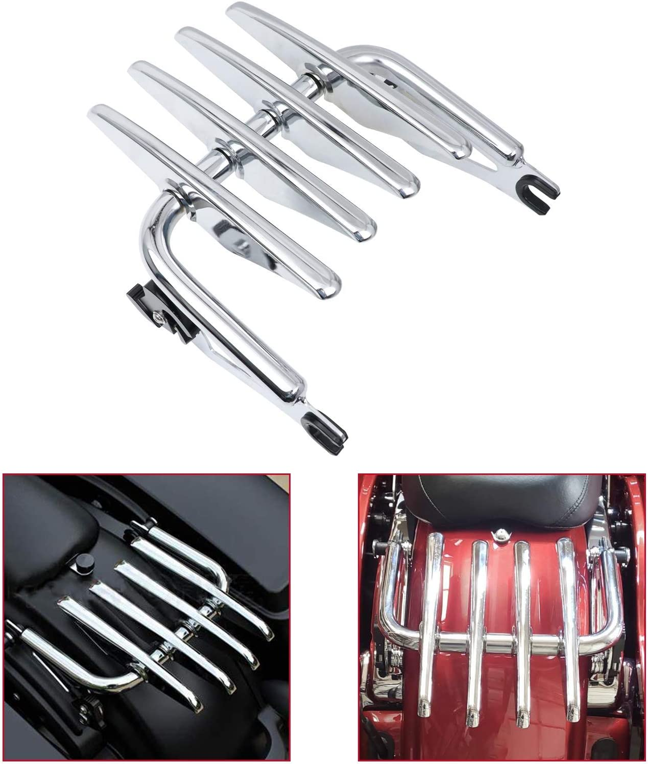 KOLEMO Max 54% OFF Chrome Detachable Stealth Luggage Fits National products S For Rack Touring