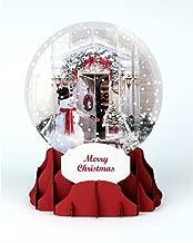 Christmass card pop-up 3D snow globe - Holiday Door
