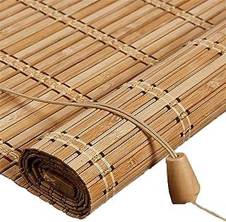 Buiten-bamboe rolgordijn voor venster/Gazebo/Balkon/Patio, Bamboe jaloezieën met Valance - 70/80/90/100/110/120/130/140cm ...