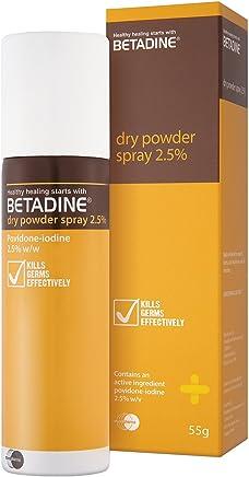 Amazon com: Betadine Dry Powder Spray 55gm 10% PVPI