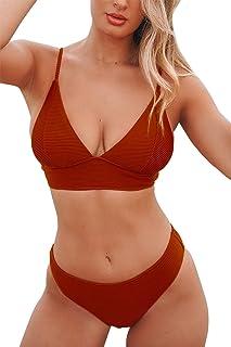 CUPSHE Women's Bikini Triangle Sexy Lace Up Two Piece Bathing Suit