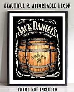 Jack Daniels Barrels- Vintage Sign Wall Art- 8 x 10