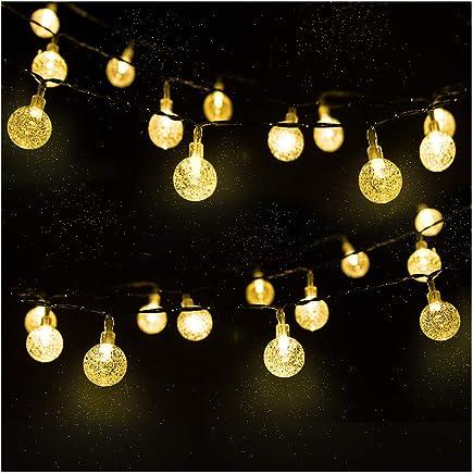 LED Solar Light chain, Crystal Balls, 4.5 m, Pack of 30.