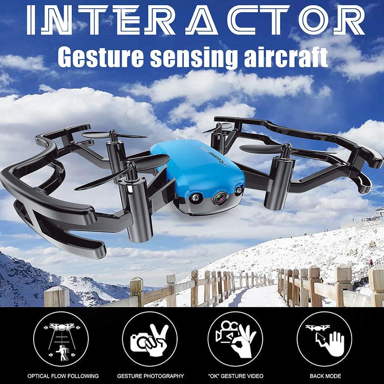 QHJ F31G RC Drone APP Control Optical Flow Auto Follows 2MP HD Camera Quadcopter (bluee)