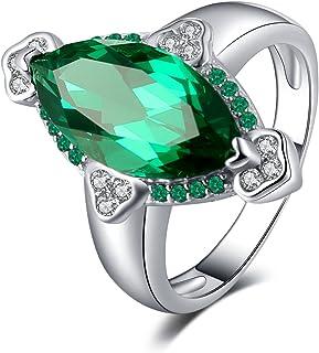 f83d4ebd9d783 JewelryPalace Bague Pierre Multicolor Naturel Synthèse Pour Femme Fashion  en Argent Sterling 925