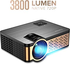 Xiaoya W5 3800-Lumens 720P LCD Portable Projector with HiFi Speaker