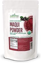 Alovitox Organic Maqui Berry Powder 8 Oz - Chile Freeze Dried Antioxidant-Rich Superfood for Smoothies, Juice, Tea - Glute...