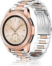 Fintie Correa Compatible con Samsung Galaxy Watch Active2/Galaxy Watch Active/Galaxy Watch 42mm/Gear Sport/Gear S2 Classic - Pulsera de Repuesto de Acero Inoxidable Sólido,
