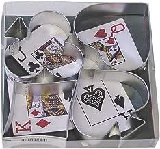 R&M International 1865 Casino Playing Card Suits Cookie Cutters, Spade, Heart, Club, Diamond, 4-Piece Set