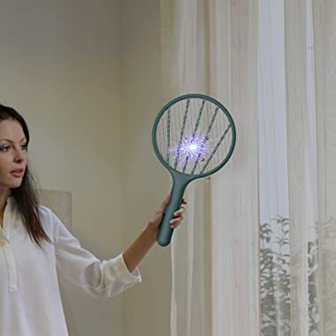 Bug Zapper Electric Fly Swatter Handheld 3000volt Mosquito Fly Killer and Bug Zapper Racket for Indoor and Outdoor Pest Contr