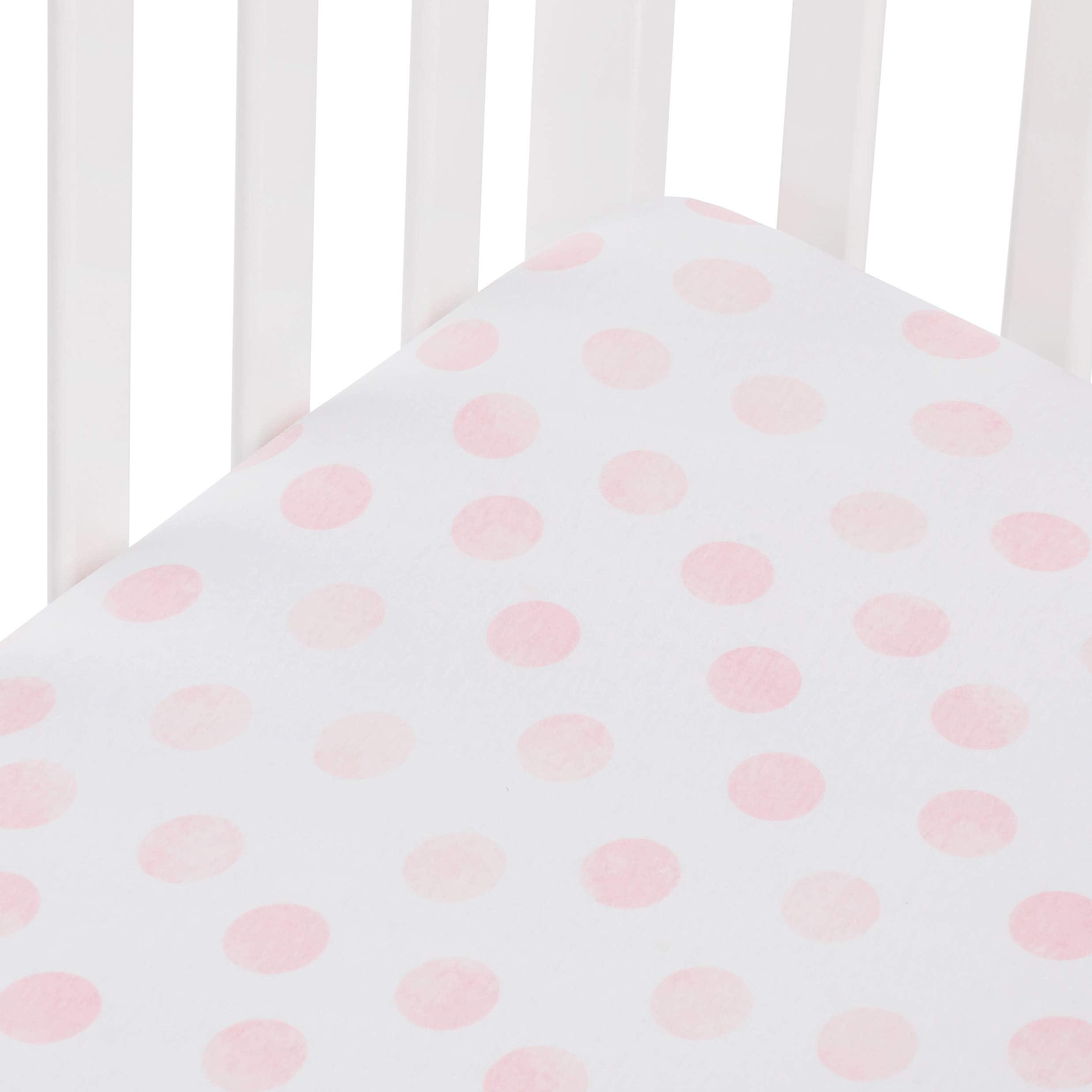 Crib Sheet Pink All Cotton
