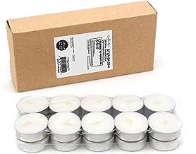 Stonebriar 4 Hour Tea Light Candles, 20 Pack, Tin Cup