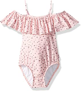 Girls' Cold Shoulder One Piece Swimsuit