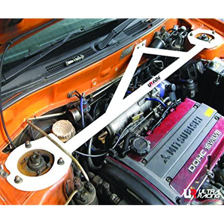 Mitsubishi Lancer Aluminum Racing Rear Upper Strut Bar Brace Tower Frame Stiff Body Jdm Blue