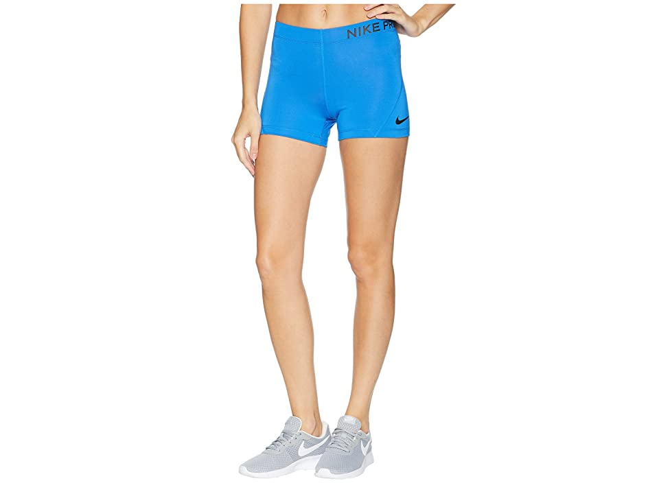Nike Pro 3 Training Short (Signal Blue/Black) Women