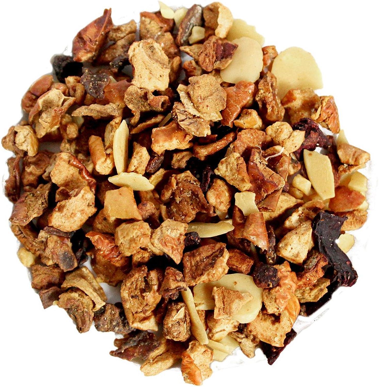 Capital Teas Premium Roasted Almond Tea, 16 Ounce -Fruity Herbal Tea, Loose Leaf, Decaf, Vitamin C, Predein Rich
