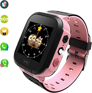 Kids' Smart-Watch That can Make Calls, Send Voice and LBS Positioning .The Good Partners for Children's Growth.(Pink)