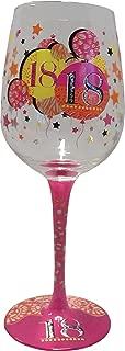 Suki Gifts - Chin Chin | 18th Birthday Wine Glass