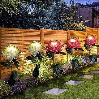 Solar Lights Outdoor Decorative, 2Pack/3 Pack Chrysanthemum Solar Garden Lights, Powered Landscape Lighting, Beautiful Wat...