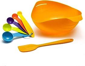 Heamren Silicone Bread Bowl - Bake brownies, cook eggs, steam vegetables, spatula & measuring spoons