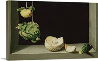 ARTCANVAS Still Life with Quince, Cabbage, Melon and Cucumber 1602 Canvas Art Print by Juan Sanchez Cotan - 12