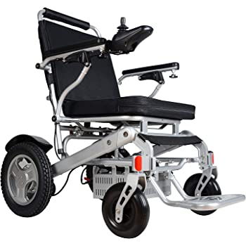 """Rubicon Best Rated Exclusive Deluxe Electric Wheelchair Motorized Foldable, Dual """"500W"""" Motors, All Terrain, Dual Battery Portable Electric Wheelchairs(Silver Color - Seat Width arm-to-arm 19.8"""")"""
