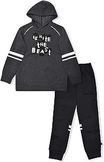 Cheetah Big Boys Fleece Hoodie and Sweatpants 2 Piece Set Sweatsuit