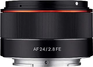 Samyang AF 24毫米 F2.8 FE(小型广角镜)-全画幅 24毫米广角定焦自动对焦镜头 适用于Sony 索尼 E、FE、E卡口、Sony 索尼 A9、A7、A6500、A6300、A6000、A5100、A5000、Nex相机等