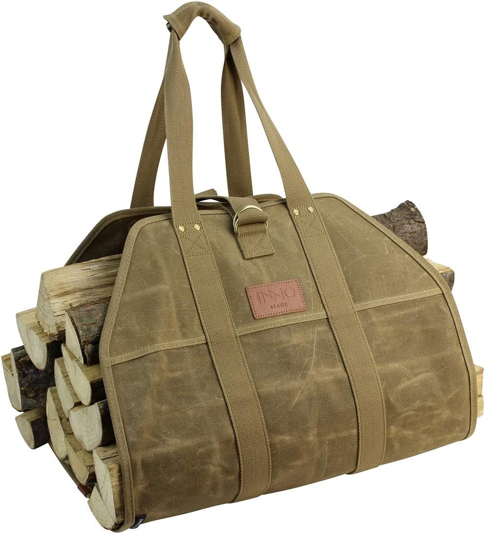INNO Over item handling ☆ STAGE Fire Wood Log Carrier Tote Haul Canvas Waxed Hay 2021new shipping free shipping Bag