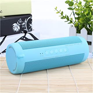 CMDZSW Bluetooth Music Woofer Speaker Waterproof Portable Outdoor LED Wireless Column Speaker Supports TF Card FM Radio Au...