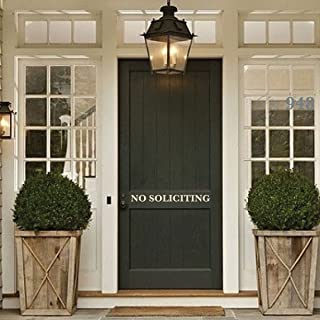 No Soliciting - Door Sign Decor - Home Decoration - Removable Vinyl Art Decal