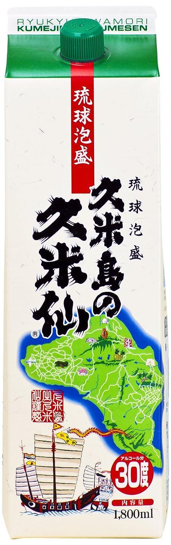 部分的に半球翻訳する久米島の久米仙 パック [ 焼酎 30度 1800ml ]