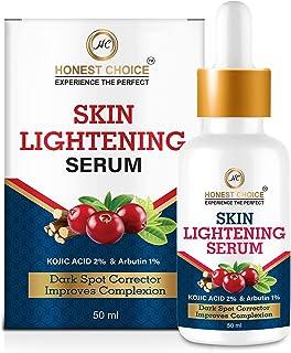 HONEST CHOICE Skin Lightening Whitening Brightening And Intimate Serum With Kojic Acid And Vitamin C For Body, Face, Neck,...