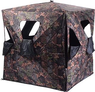 lunanice Ground Hunting Blind Portable Deer Pop Up Camo Hunter Weather Proof Mesh Window