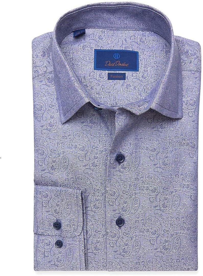 David Donahue Denim Paisley Fusion Woven Shirt