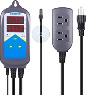 Inkbird Digital Outlet Heat Temperature Controller with Day Night Control for Brewing Aquarium Breeding Reptiles Hatching Heat Mat