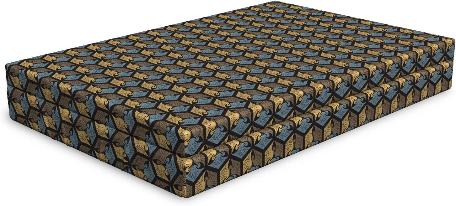 Ambesonne Cheap mail order shopping Japanese Dog Bed Themed Traditional Birds Oriental Cu Fixed price for sale