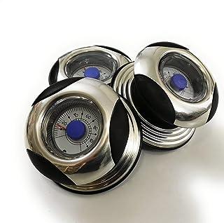 Kerafactum® - Pomo para tapa de olla (universal, mango de plástico, diámetro de 7 cm), plástico, negro/plateado, 3 unidades