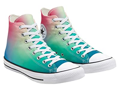 Converse Chuck Taylor All Star Ombre Wash Hi (White/Game Royal/Cerise Pink) Lace up casual Shoes
