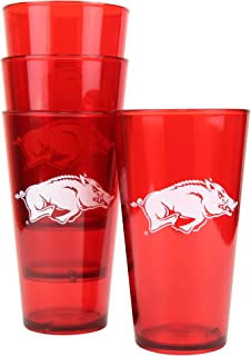 "NCAA ""Game Day"" Plastic Tailgating Cups, 16oz (4-Pack) (Arkansas Razorbacks)"